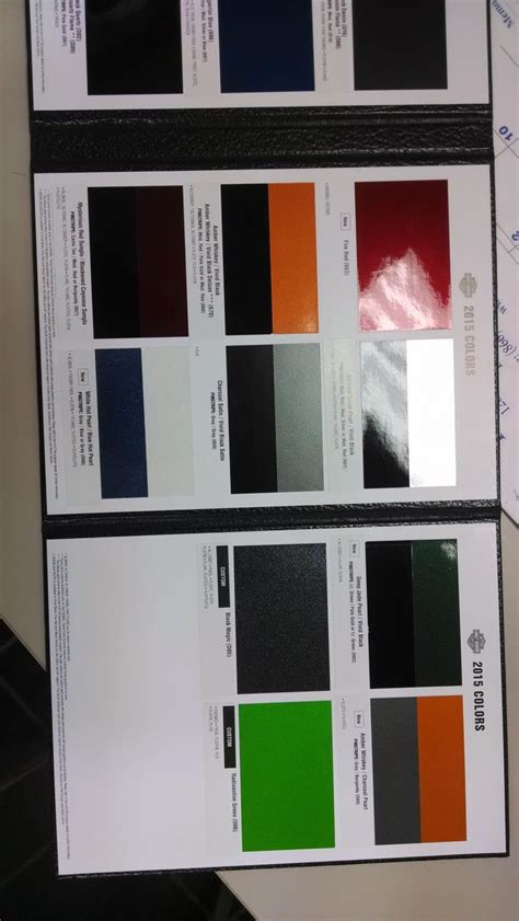 harley davidson 2015 color chart autos post