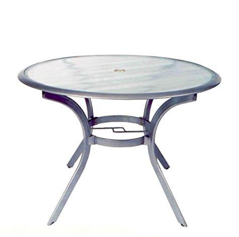 gartentisch mit schirmloch top glastisch aus alumium mit schirmloch by plo 223 witterungsbest 228 n top ebay