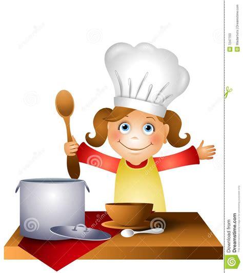 2 filles en cuisine enfant de fille dans le chapeau 2 de chef illustration