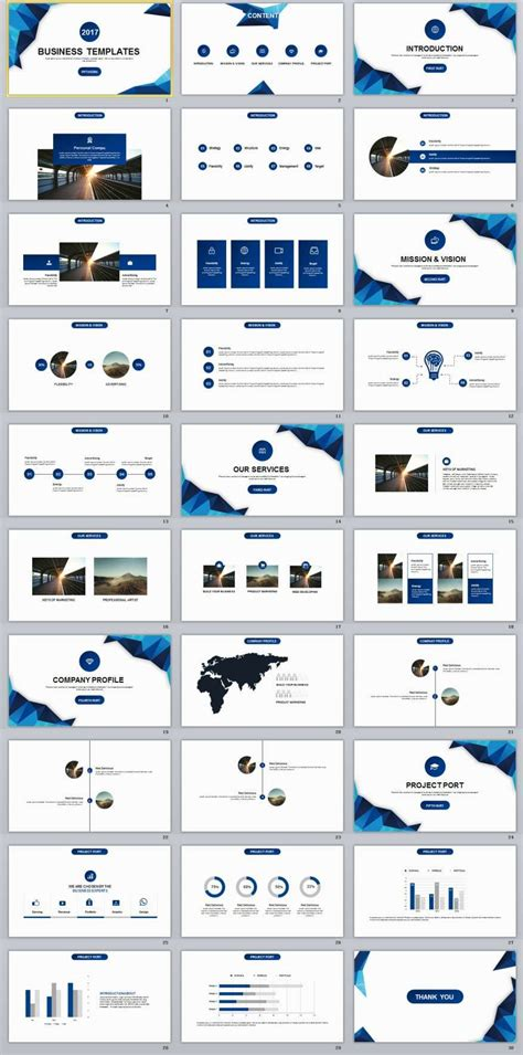blue business plan powerpoint templates