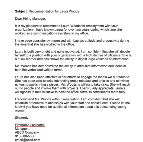 recommendation letter  employee  manager top form