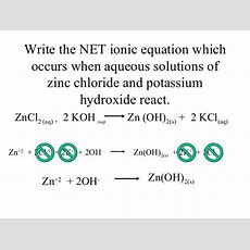 Double Replacement Reactions With Net Ionic And Spectators