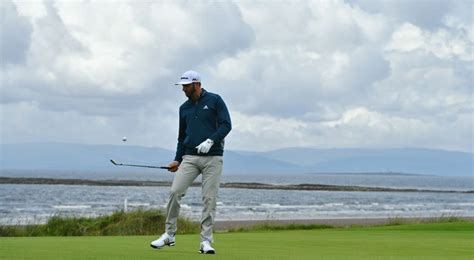 Chilled-out Dustin Johnson in the groove for Troon test ...
