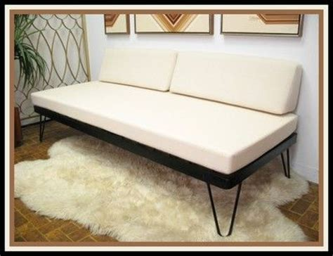 vintage danish modern mid century daybed sofa hairpin legs