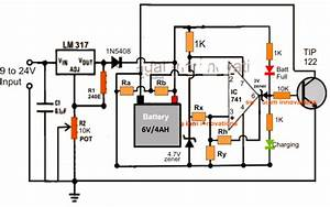 Universal Battery Charger Circuit With Fixed Resistors