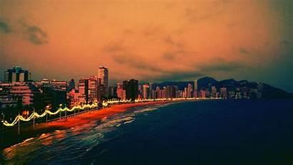 Spain Benidorm Beach Wallpapers Evening Hdwallpaper Country