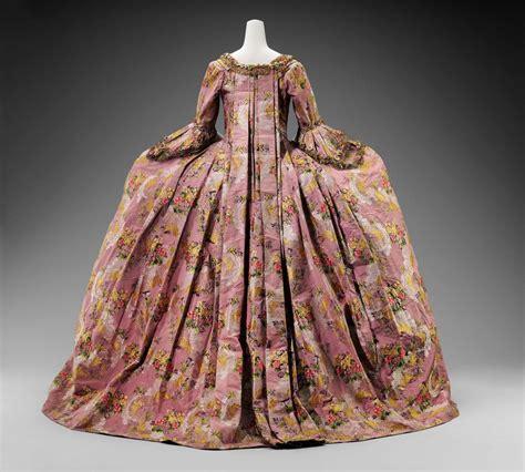 womans court dress  petticoat robe  la francaise
