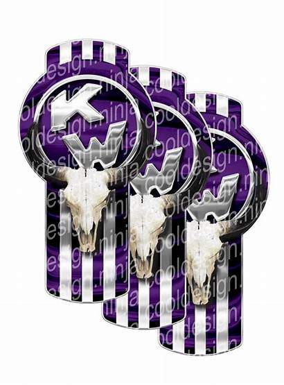Skull Purple Kenworth Emblem Bull Skins Pack