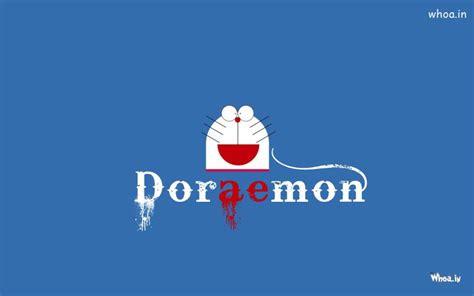 doraemon with blue background hd wallpaper