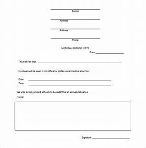 doctor note templates for work 8 free sample example With free dr excuse template