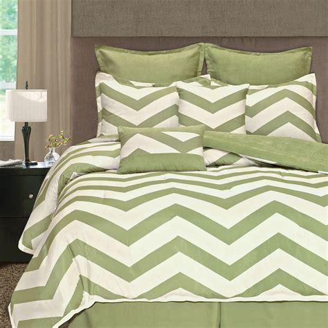 cheap zig zag chevron 8 pc microsuede comforter set