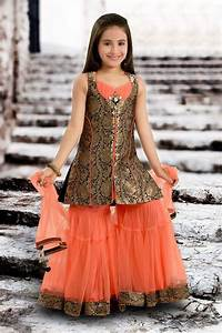 Show details for Striking black & peach color sharara style suit Color Pinterest Sharara