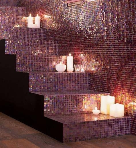 purple mosaic bathroom tiles ideas  pictures