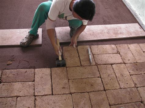 cheap and easy earth block floors make