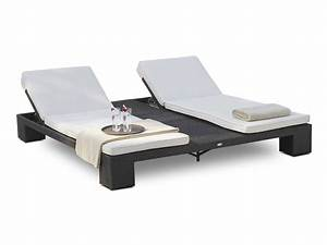 Transat Double Jardin : double bain de soleil de jardin relaxation sunny de lusso 6043 ~ Teatrodelosmanantiales.com Idées de Décoration