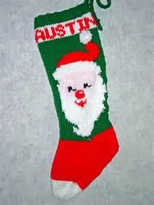 Santa Christmas Stocking Knitting Pattern