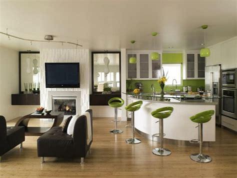 cuisine et salon idee decoration cuisine ouverte