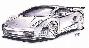 Sportscar Prototype Drawing by Terence John Cleary