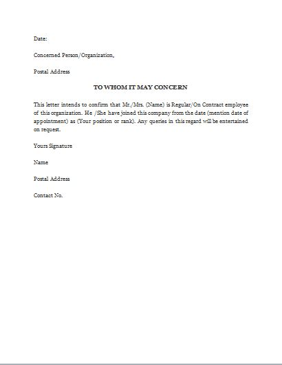 employment verification letter template word proof of employment letter gplusnick