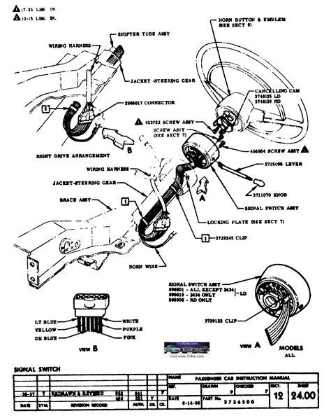 Steering Wheel Column Wiring Diagram by Gm Tilt Steering Wheel Wiring Harness Diagramn Autos Post
