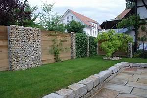 Gartenzaun Aus Stein : sichtschutz holz stein efeu 1 garten pinterest zaun ~ Lizthompson.info Haus und Dekorationen