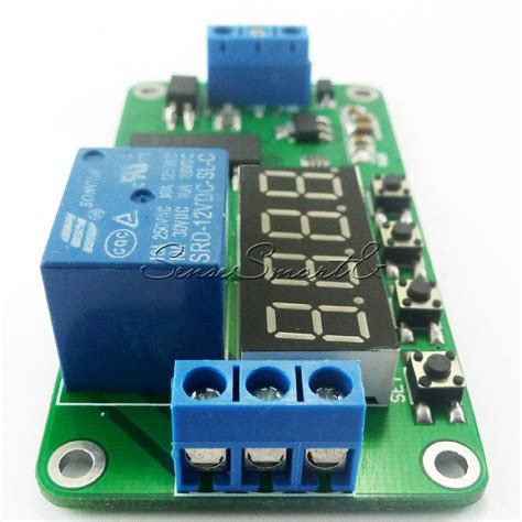dc 5v 12v multifunction self lock relay plc cycle timer module delay time switch ebay