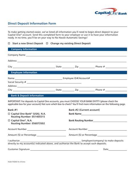 capital one 360 direct deposit form free capital one 360 direct deposit authorization form