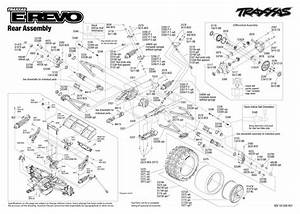 Exploded View  Traxxas E-revo 1 10 Tqi Bluetooth Ready Tsm Rtr Be