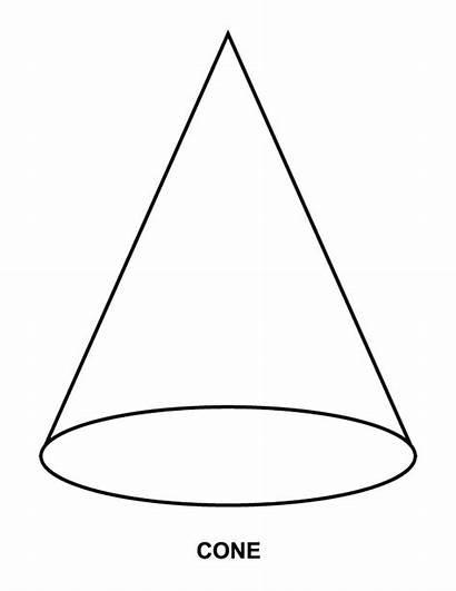 Cone Shape Coloring Clipart Pages Worksheet Printable