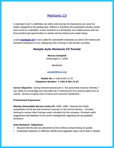 Automatic Resumeautomatic Resume Maker by Writing A Concise Auto Technician Resume