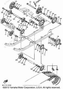Yamaha Snowmobile 1986 Oem Parts Diagram For Track