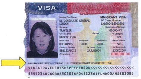 Sample Immigrant Visa