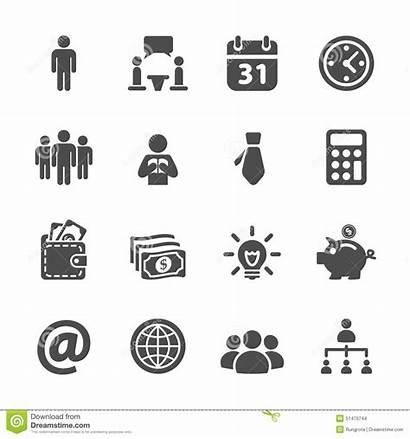 Icon Corporate Corporativo Insieme Affare Icona Vettore