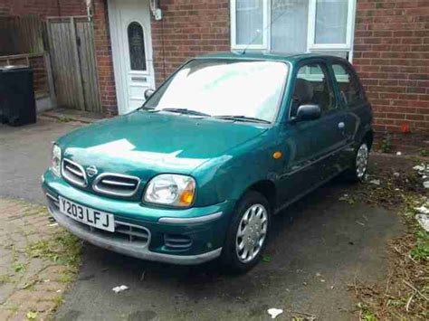 nissan green nissan 2001 micra s green 36 000 genuine miles car for sale