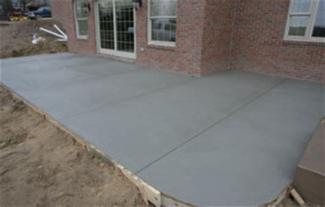 smooth finished concrete patio schupbach concrete