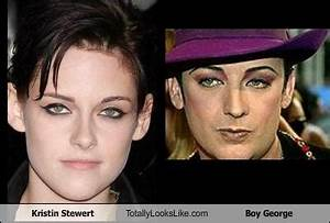 Kristen Stewert Totally Looks Like Boy George - RandomOverload