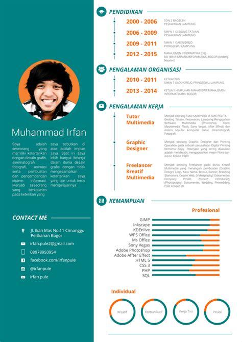Contoh Cv Menarik by Stok Desain Cv Menggunakan Inkscape Irfan Berbagi