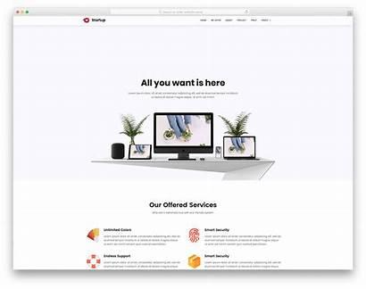 Simple Website Web Template Templates Startup Landing
