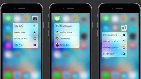 all the new stuff you can do with 3d touch on the iphone 6s