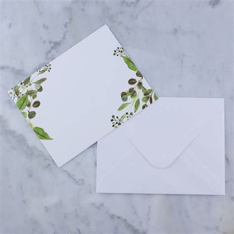 Greenery Flat Cards & Envelopes by Recollections™ Michaels