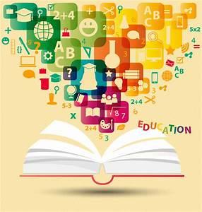 Creative books educational background element vector ...