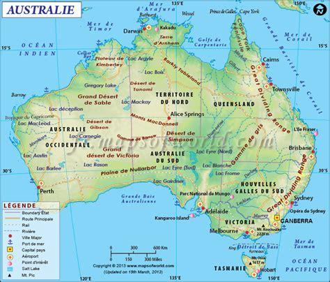 Carte Australie Ville by Carte Australie Carte De L Australie