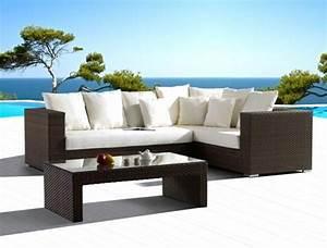 Canape Angle Jardin : canap d 39 angle de jardin ~ Teatrodelosmanantiales.com Idées de Décoration