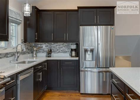 classy modern kitchen  quartz norfolk kitchen bath