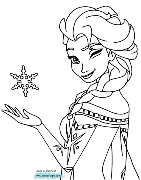 disney elsa printable coloring pages coloring pages