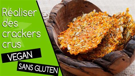 recette de cuisine en photo vidéo des crackers crus maison vegan et sans gluten