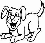 Dog Coloring Pages Clipart Happy Animal Dogs Outline Barking Funny Mutt Cartoon Poochies Magical Printable Preschool Thecoloringbarn Royalty Interactive Library sketch template