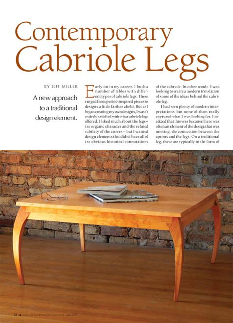 contemporary cabriole legs woodworking project