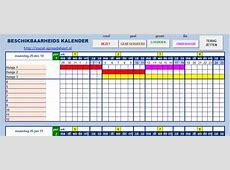 Beschikbaarheidskalender in Excel excelspreadsheetnl