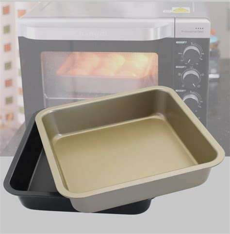 baking carbon steel square pan nonstick tray microondas utensilios sheets cookie advanced